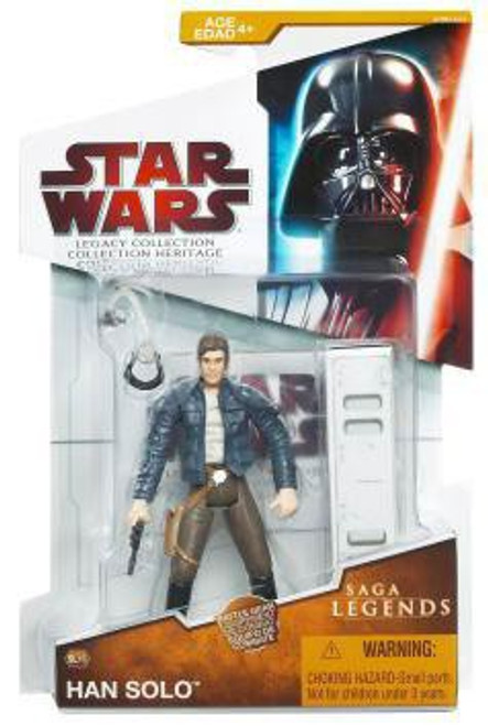 Star Wars The Empire Strikes Back Legacy Collection 2009 Saga Legends Han Solo Action Figure SL16 [Asteroid Exploration]