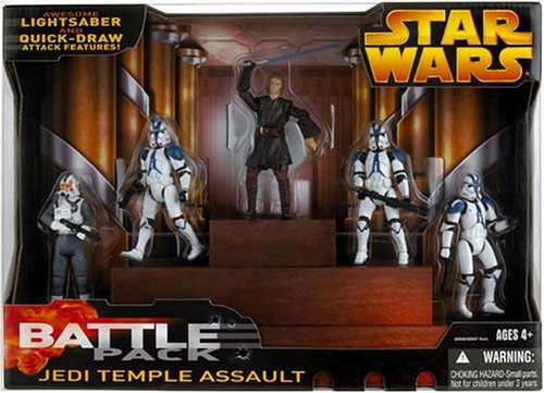 Star Wars Revenge of the Sith Battle Packs 2005 Jedi Temple Assault Exclusive Action Figure Set