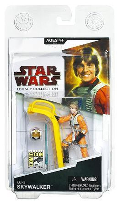 Star Wars A New Hope Exclusives 2009 Luke Skywalker Exclusive Action Figure [Pilot With Ladder]