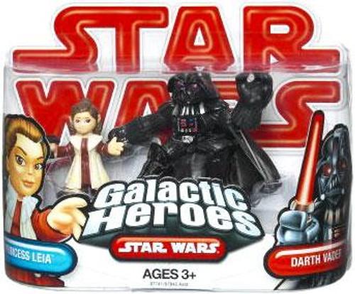 Star Wars The Empire Strikes Back Galactic Heroes 2009 Princess Leia & Darth Vader Mini Figure 2-Pack