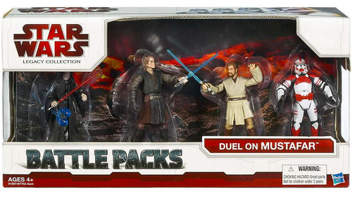 Star Wars Revenge of the Sith Battle Packs 2009 Duel On Mustafar Action Figure Set