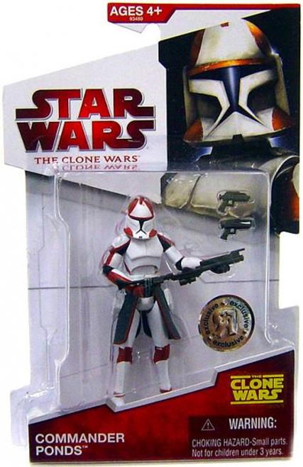 Star Wars The Clone Wars Clone Wars 2009 Commander Ponds Exclusive Action Figure