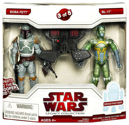 Star Wars Expanded Universe Legacy Collection 2009 Droid Factory Boba Fett & BL-17 Exclusive Action Figure 2-Pack #3 of 5