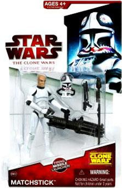 Star Wars The Clone Wars Clone Wars 2009 Matchstick Action Figure CW34