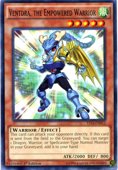 YuGiOh Space-Time Showdown Common Ventdra, the Empowered Warrior YS14-EN012