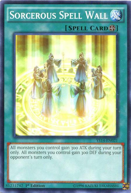 YuGiOh Space-Time Showdown Common Sorcerous Spell Wall YS14-EN021