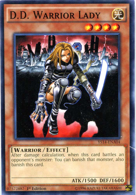 YuGiOh Space-Time Showdown Common D.D. Warrior Lady YS14-ENA04