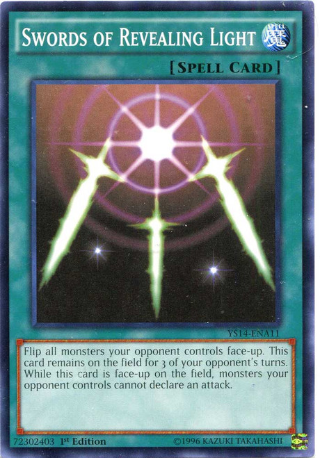 YuGiOh Space-Time Showdown Common Swords of Revealing Light YS14-ENA11