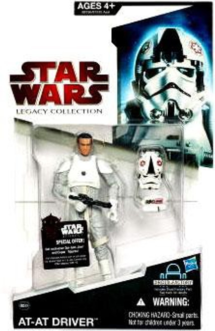 Star Wars The Empire Strikes Back Legacy Collection 2009 Droid Factory AT-AT Driver Action Figure BD49 [Random Helmet Position]