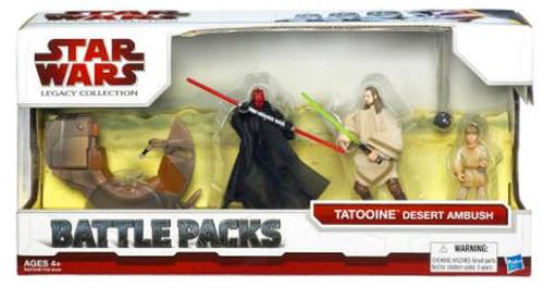 Star Wars The Phantom Menace Battle Packs 2009 Tatooine Desert Ambush Action Figure Set