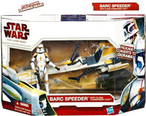 Star Wars The Clone Wars Vehicles & Action Figure Sets 2010 Barc Speeder with Clone Commander Cody Action Figure Set