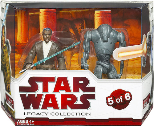 Star Wars Attack of the Clones Legacy Collection 2009 Geonosis Arena Showdown Roth-Del & Super Battle Droid Exclusive Action Figure 2-Pack #5 of 6