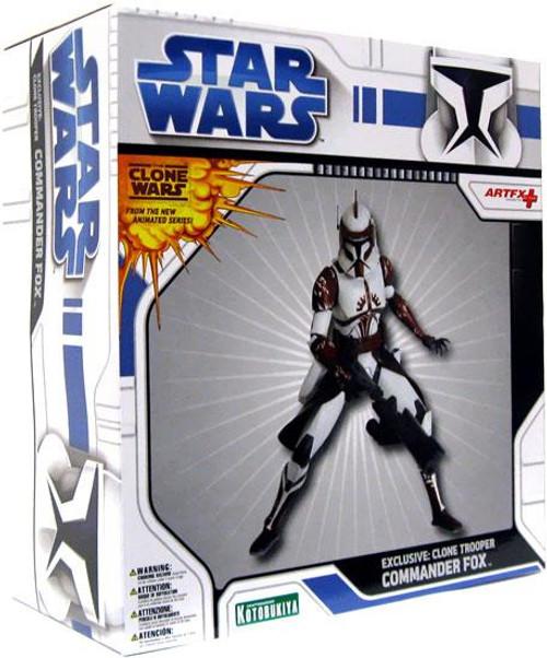 Star Wars ArtFX Clone Wars Clone Trooper Commander Fox Exclusive 1/10 Vinyl Statue