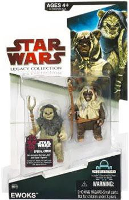 Star Wars Return of the Jedi Legacy Collection 2009 Droid Factory Ewoks Action Figure 2-Pack BD18