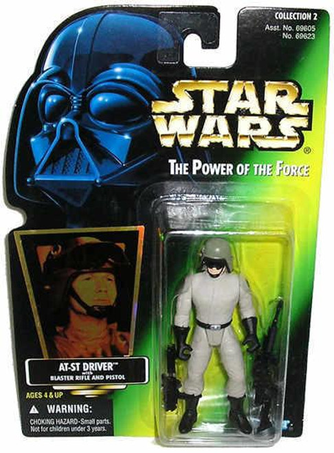 Star Wars Return of the Jedi Power of the Force POTF2 Collection 2 AT-ST Driver Action Figure [Hologram Card]