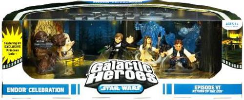 Star Wars Return of the Jedi Galactic Heroes Cinema Scenes Endor Celebration Exclusive Mini Figure Set