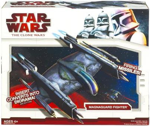 Star Wars The Clone Wars Vehicles 2009 Magnaguard Fighter Action Figure Vehicle