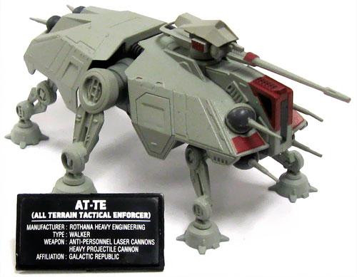 Star Wars Attack of the Clones Japanese Models AT-TE Micro Vehicle Model