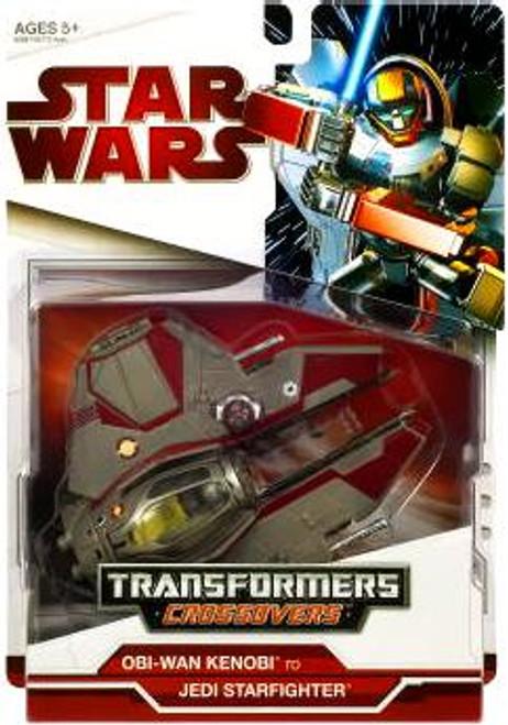 Star Wars Attack of the Clones Transformers Crossovers 2009 Obi-Wan Kenobi to Jedi Starfighter Action Figure