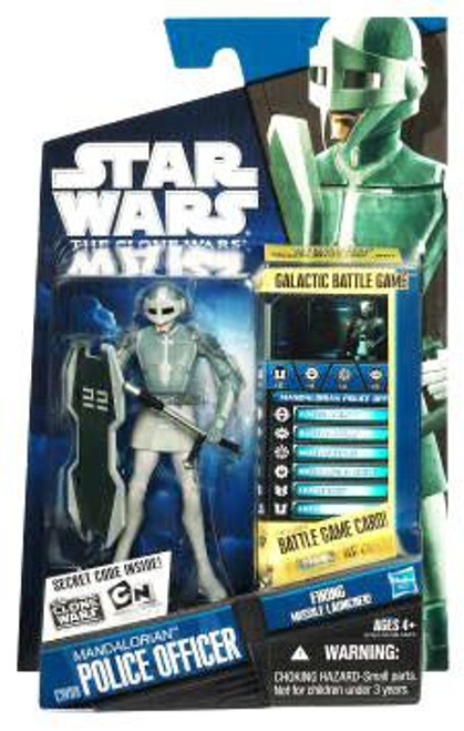 Star Wars The Clone Wars Clone Wars 2010 Mandalorian Police Officer Action Figure CW09