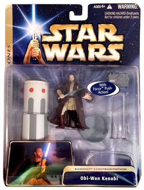 Star Wars Attack of the Clones Basic 2004 Obi-Wan Kenobi Action Figure [Kamino Confrontation]