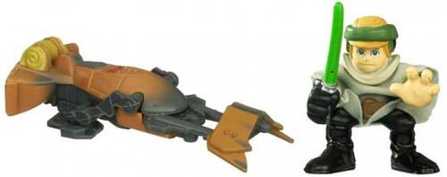 Star Wars Return of the Jedi Galactic Heroes 2010 Endor Luke Skywalker & Speeder Bike Mini Figure 2-Pack