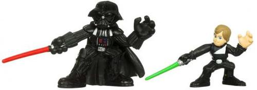 Star Wars Return of the Jedi Galactic Heroes 2010 Jedi Luke Skywalker & Darth Vader Mini Figure 2-Pack