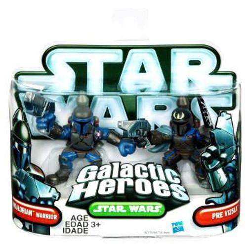 Star Wars The Clone Wars Galactic Heroes 2010 Mandalorian Warrior & Pre Vizsla Mini Figure 2-Pack