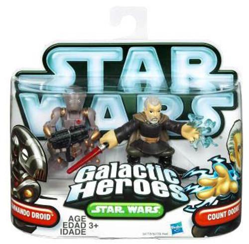 Star Wars The Clone Wars Galactic Heroes 2010 Count Dooku & Commando Droid Mini Figure 2-Pack