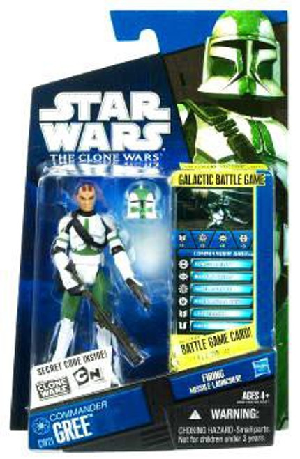 Star Wars The Clone Wars Clone Wars 2010 Commander Gree Action Figure CW21