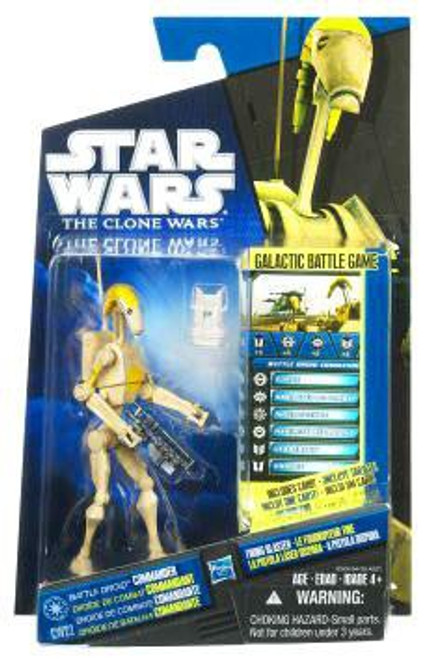 Star Wars The Clone Wars Clone Wars 2010 Battle Droid Commander Action Figure CW22