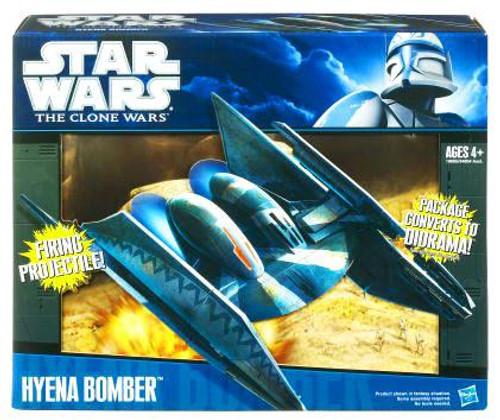 Star Wars The Clone Wars Vehicles 2010 Hyena Bomber Action Figure Vehicle