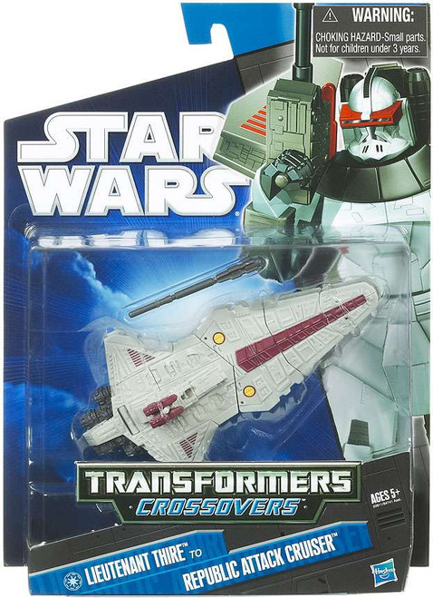 Star Wars The Clone Wars Transformers Crossovers 2010 Commander Thire to Republic Attack Cruiser Action Figure