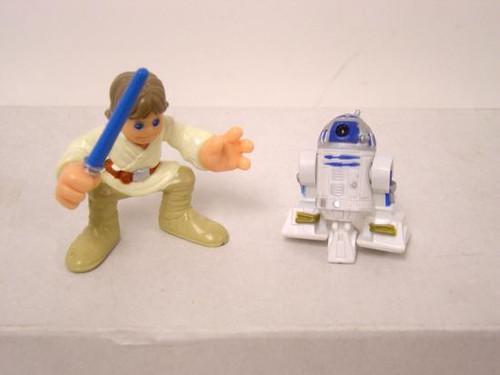 Star Wars A New Hope Galactic Heroes 2007 Luke Skywalker & R2-D2 Mini Figures [Loose]