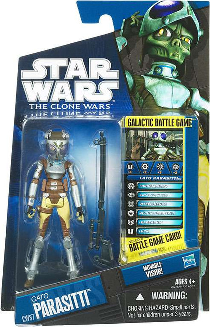Star Wars The Clone Wars Clone Wars 2010 Cato Parasiti Action Figure CW37