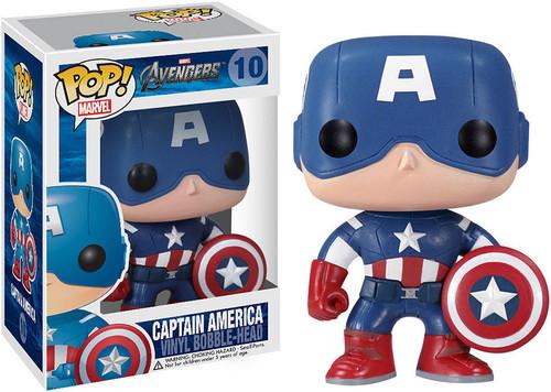 Avengers Funko POP! Marvel Captain America Vinyl Bobble Head #10 [Avengers]