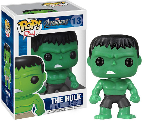 Avengers Funko POP! Marvel The Hulk Vinyl Bobble Head #13 [Black Pants]
