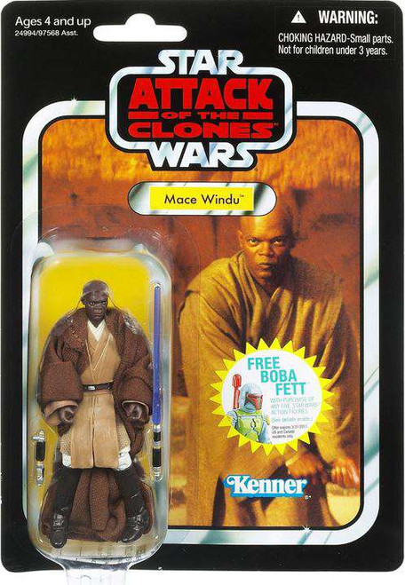 Star Wars Attack of the Clones Vintage Collection 2011 Mace Windu Action Figure #35
