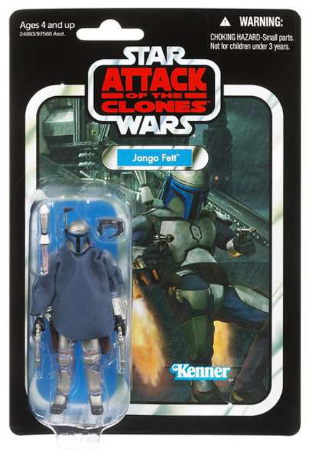 Star Wars Attack of the Clones Vintage Collection 2011 Jango Fett Action Figure #34