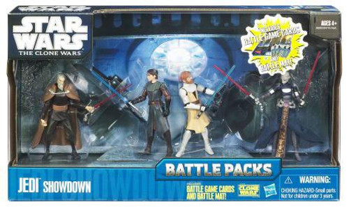 Star Wars The Clone Wars Battle Packs 2010 Jedi Showdown Action Figure Set