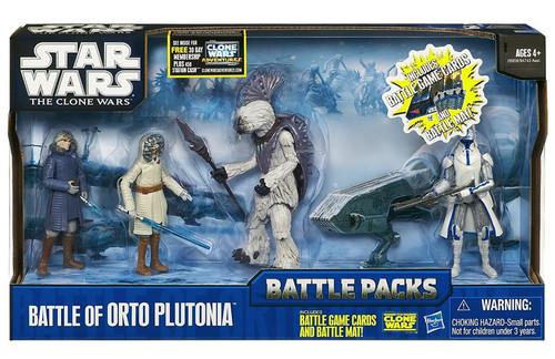 Star Wars The Clone Wars Battle Packs 2010 Battle of Orto Plutonia Action Figure Set
