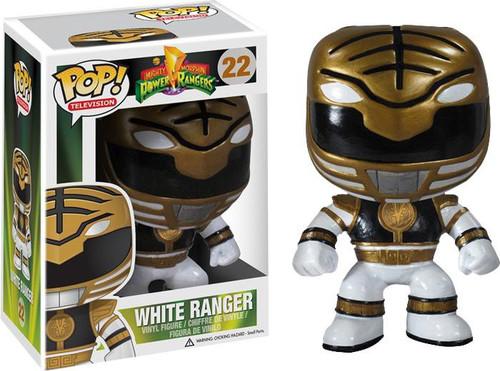 Power Rangers Funko POP! Television White Ranger Vinyl Figure #22