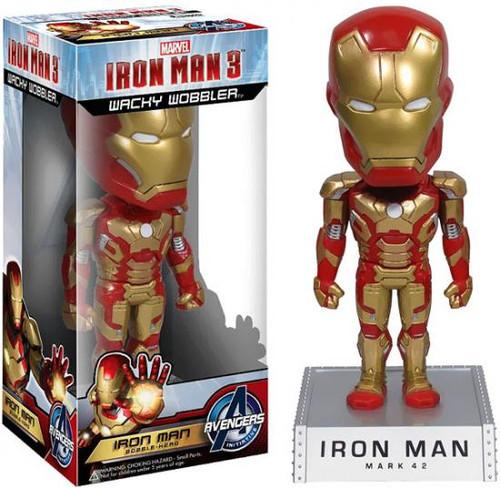 Funko Iron Man 3 Wacky Wobbler Iron Man Bobble Head [Mark 42]