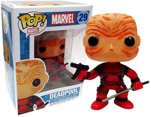 Marvel Universe Funko POP! Marvel Maskless Deadpool Exclusive Vinyl Bobble Head [Red Costume]