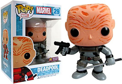 Marvel Universe Funko POP! Marvel Maskless Deadpool Exclusive Vinyl Bobble Head [Gray Costume]