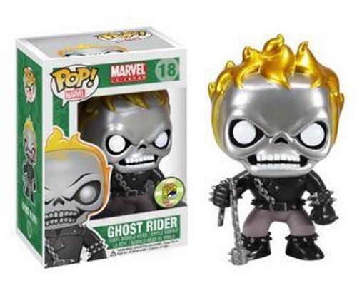 Marvel Universe Funko POP! Marvel Ghost Rider Exclusive Vinyl Bobble Head #18 [Metallic]