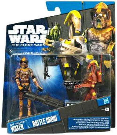Star Wars The Clone Wars Clone Wars 2011 ARF Trooper Waxer & Battle Droid Exclusive Action Figure 2-Pack