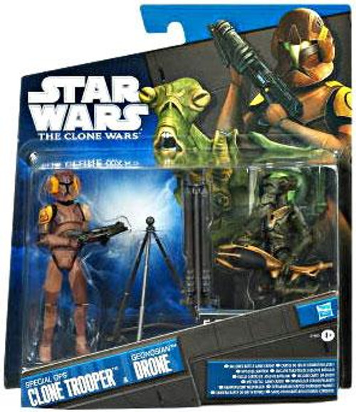 Star Wars The Clone Wars Clone Wars 2011 Special Ops Clone Trooper & Geonosian Drone Exclusive Action Figure 2-Pack
