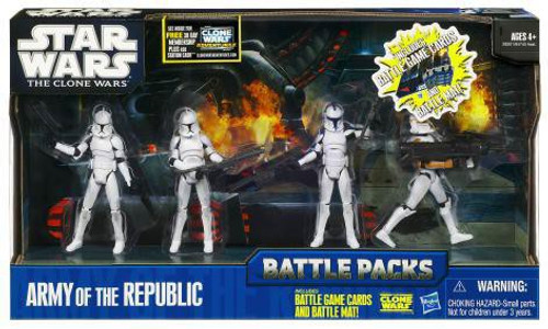 Star Wars The Clone Wars Battle Packs 2011 Army of the Republic Action Figure Set