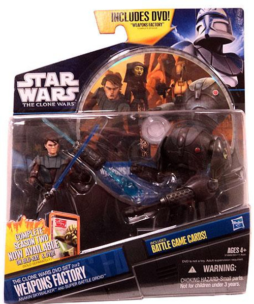 Star Wars The Clone Wars Clone Wars 2011 Weapons Factory DVD Exclusive Action Figure 2-Pack